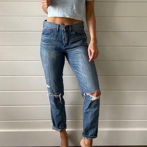 J Crew // Lightly Distressed Boyfriend Jeans